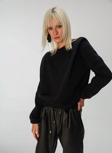 People By Fabrika Vatkalı Sweatshirt Siyah